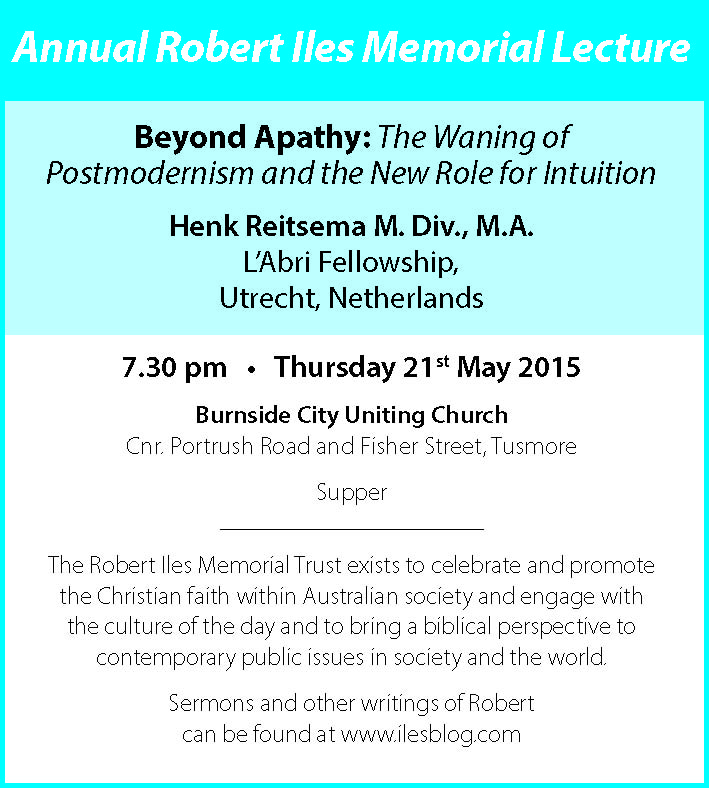Annual Robert Iles lecture - ad